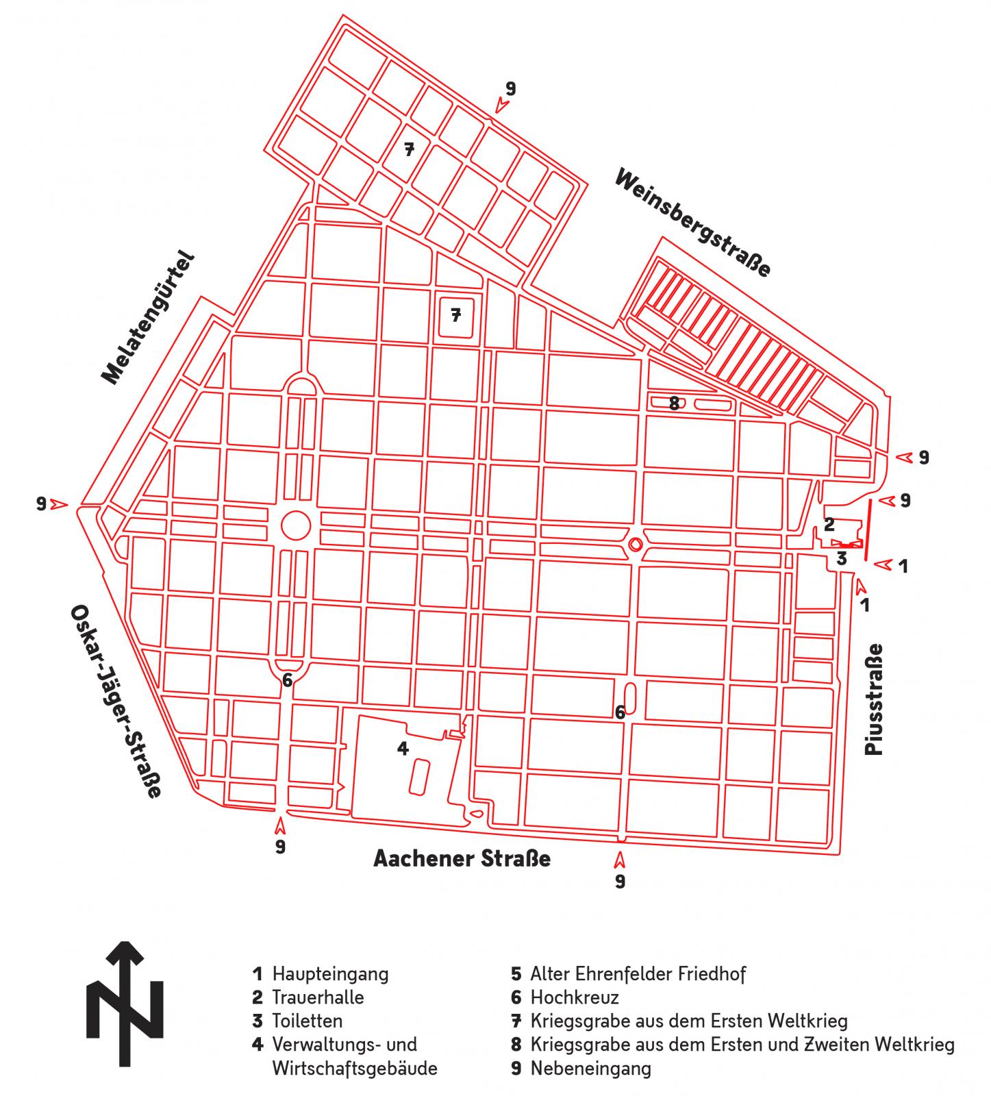 Melaten-Friedhof-Karte